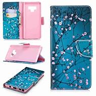 Недорогие Чехлы и кейсы для Galaxy Note-Кейс для Назначение SSamsung Galaxy Note 9 / Note 8 Кошелек / Бумажник для карт / со стендом Чехол Цветы Твердый Кожа PU для Note 5 / Note 4 / Note 3