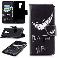 お買い得  携帯電話ケース-ケース 用途 LG G7 ウォレット / カードホルダー / スタンド付き フルボディーケース ワード/文章 ハード PUレザー のために LG G7