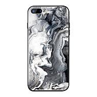 Недорогие Кейсы для iPhone 8-Кейс для Назначение Apple iPhone X / iPhone 8 Plus Зеркальная поверхность / С узором Кейс на заднюю панель Мрамор Твердый ТПУ / Закаленное стекло для iPhone X / iPhone 8 Pluss / iPhone 8