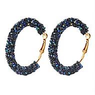 Dámské Provaz Náušnice - Kruhy Naušnice obruče Náušnice Koblihy dámy Jednoduchý Šperky Bílá / Černá / Tmavomodrá Pro Denní 1 Pair
