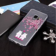 Недорогие Чехлы и кейсы для Galaxy S-Кейс для Назначение SSamsung Galaxy S9 Plus / S9 IMD / Прозрачный / С узором Кейс на заднюю панель Животное / Цветы Мягкий ТПУ для S9 / S9 Plus / S8 Plus