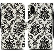 Недорогие Кейсы для iPhone 8 Plus-Кейс для Назначение Apple iPhone X / iPhone 8 Plus Кошелек / Бумажник для карт / со стендом Чехол Кружева Печать Твердый Кожа PU для iPhone X / iPhone 8 Pluss / iPhone 8