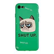 cheap -Case For Apple iPhone X / iPhone 8 Plus Pattern Back Cover Word / Phrase / Cartoon Soft TPU for iPhone X / iPhone 8 Plus / iPhone 8