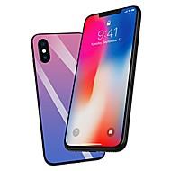 Недорогие Кейсы для iPhone 8 Plus-Кейс для Назначение Apple iPhone X / iPhone 8 Plus Стразы Кейс на заднюю панель Градиент цвета Твердый Закаленное стекло для iPhone X / iPhone 8 Pluss / iPhone 8