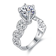 cheap Jewelry & Watches-Women's Cubic Zirconia Stack Ring - Platinum Plated, S925 Sterling Silver 6 / 7 / 8 / 9 Silver For Gift Date