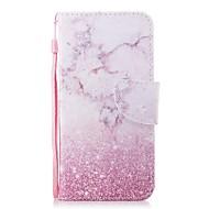 preiswerte Handyhüllen-Hülle Für Huawei Honor 7X Geldbeutel / Kreditkartenfächer / Flipbare Hülle Ganzkörper-Gehäuse Marmor Hart PU-Leder für Honor 7X