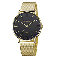 cheap Jewelry & Watches-Geneva Women's Wrist Watch Quartz New Design Casual Watch Cool Alloy Band Analog Casual Fashion Black / Gold / Rose Gold - Black / Gold Rose Gold / White Black / Rose Gold One Year Battery Life