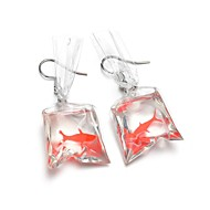 cheap Jewelry & Watches-Women's Sculpture Drop Earrings - Resin Fish Cartoon, Trendy Silver For Party / Evening / Holiday