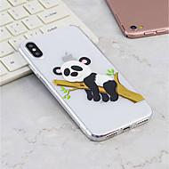 Недорогие Кейсы для iPhone 8 Plus-Кейс для Назначение Apple iPhone X / iPhone 8 Plus С узором Кейс на заднюю панель Панда Мягкий ТПУ для iPhone X / iPhone 8 Pluss / iPhone 8