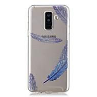 Недорогие Чехлы и кейсы для Galaxy A3(2017)-Кейс для Назначение SSamsung Galaxy A6+ (2018) / A6 (2018) Прозрачный / С узором Кейс на заднюю панель Перья Мягкий ТПУ для A6 (2018) / A6+ (2018) / A3 (2017)
