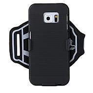 Недорогие Чехлы и кейсы для Galaxy S-Кейс для Назначение SSamsung Galaxy S9 / S7 Спортивныеповязки / Защита от удара С ремешком на руку Однотонный Твердый ПК для S6 edge plus / S6 edge / S6