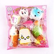 お買い得  -LT.Squishies スクイーズおもちゃ / ストレス解消グッズ 食べ物 減圧玩具 10 pcs 大人 ギフト