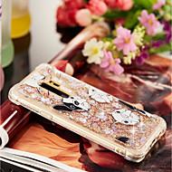 Недорогие Чехлы и кейсы для Galaxy S9-Кейс для Назначение SSamsung Galaxy S9 Plus / S9 Защита от удара / Движущаяся жидкость / Прозрачный Кейс на заднюю панель С собакой Мягкий ТПУ для S9 / S9 Plus / S8 Plus