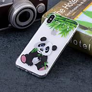 Недорогие Кейсы для iPhone 8 Plus-Кейс для Назначение Apple iPhone X / iPhone 8 Plus IMD / С узором Кейс на заднюю панель Панда Мягкий ТПУ для iPhone X / iPhone 8 Pluss / iPhone 8