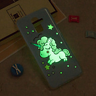 Недорогие Чехлы и кейсы для Galaxy J3-Кейс для Назначение SSamsung Galaxy iPhone X / iPhone 8 Plus / J6 Сияние в темноте / IMD / С узором Кейс на заднюю панель единорогом Мягкий ТПУ для J8 / J7 (2017) / J7 (2016)