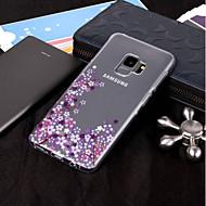 Недорогие Чехлы и кейсы для Galaxy S9-Кейс для Назначение SSamsung Galaxy S9 Plus / S9 IMD / Прозрачный / С узором Кейс на заднюю панель Цветы Мягкий ТПУ для S9 / S9 Plus / S8 Plus