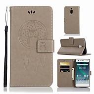 お買い得  携帯電話ケース-ケース 用途 Nokia Nokia 2.1 ウォレット / カードホルダー / スタンド付き フルボディーケース フクロウ ハード PUレザー のために Nokia 2.1