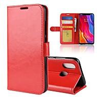お買い得  携帯電話ケース-ケース 用途 Xiaomi Mi 8 / Mi 8 SE ウォレット / カードホルダー / フリップ フルボディーケース ソリッド ハード PUレザー のために Redmi Note 5A / Xiaomi Redmi Note 5 Pro / Xiaomi Redmi注5