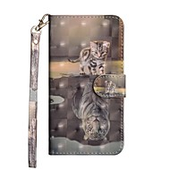 cheap Cell Phone Accessories-Case For Samsung Galaxy J6 / J4 Wallet / with Stand / Flip Full Body Cases Cat Hard PU Leather for J7 (2017) / J6 / J5 (2017)
