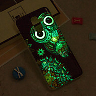 Недорогие Чехлы и кейсы для Galaxy J5(2017)-Кейс для Назначение SSamsung Galaxy iPhone X / iPhone 8 Plus / J6 Сияние в темноте / IMD / С узором Кейс на заднюю панель Сова Мягкий ТПУ для J8 / J7 (2017) / J7 (2016)