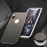 Недорогие Кейсы для iPhone 8-Кейс для Назначение Apple iPhone X / iPhone 8 Защита от удара / Покрытие Кейс на заднюю панель Однотонный Твердый Алюминий для iPhone X / iPhone 8 Pluss / iPhone 8