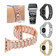 시계 밴드 용 Fitbit Blaze / Apple Watch Series 4/3/2/1 Apple 스포츠 밴드 스테인레스 스틸 손목 스트랩