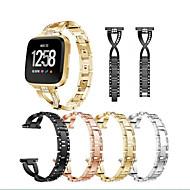 baratos Pulseiras para Fitbit-Pulseiras de Relógio para Fitbit Versa Fitbit Pulseira Esportiva Aço Inoxidável Tira de Pulso