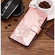 Недорогие Чехлы и кейсы для Galaxy S9 Plus-Кейс для Назначение SSamsung Galaxy S9 Plus / S9 Кошелек / Бумажник для карт / со стендом Чехол Кружева Печать Твердый Кожа PU для S9 / S9 Plus / S8 Plus