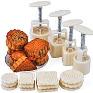 お買い得  キッチン用小物-ベークツール プラスチック / メタル クール / 多機能 ケーキ 円形 / 方形 ケーキ型 16PCS