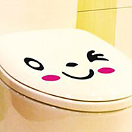 abordables Artículos para el Hogar-Etiquetas y cintas / Asiento para Retrete Dibujos animados / Creativo Dibujos / Moderno / Contemporáneo CLORURO DE POLIVINILO 1pc - Espejo / Limpieza Decoración de baño