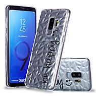 Недорогие Чехлы и кейсы для Galaxy S-Кейс для Назначение SSamsung Galaxy S9 Plus / S9 С узором Кейс на заднюю панель Слова / выражения Мягкий ТПУ для S9 / S9 Plus / S8 Plus