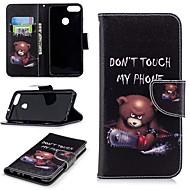 preiswerte Handyhüllen-Hülle Für Huawei P smart Geldbeutel / Kreditkartenfächer / mit Halterung Ganzkörper-Gehäuse Tier Hart PU-Leder für P smart