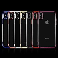 Недорогие Кейсы для iPhone 8-Кейс для Назначение Apple iPhone X / iPhone 8 Plus Покрытие / Прозрачный Кейс на заднюю панель Однотонный Мягкий ТПУ для iPhone X / iPhone 8 Pluss / iPhone 8