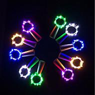 abordables Lámparas LED Novedosas-BRELONG® 10pcs Tapón de botella de vino Luz de noche LED Blanco Cálido / Blanco / Rojo Botón con pilas Creativo / Boda / Decoración <5 V