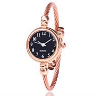 cheap -Women's Bracelet Watch / Wrist Watch Chinese Casual Watch Alloy Band Fashion / Minimalist Black / Silver / Gold