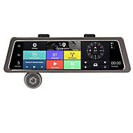 abordables DVR de Coche-Factory OEM 480p / 720p / 1080p HD / Visión nocturna DVR del coche 150 Grados Gran angular 12 MP 10.1 pulgada IPS Dash Cam con WIFI / GPS / Visión nocturna Registrador de coche