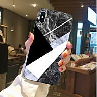 Недорогие Кейсы для iPhone 8-Кейс для Назначение Apple iPhone X / iPhone 8 Прозрачный / С узором Кейс на заднюю панель Мрамор Мягкий ТПУ для iPhone X / iPhone 8 Pluss / iPhone 8
