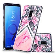 Недорогие Чехлы и кейсы для Galaxy S8-Кейс для Назначение SSamsung Galaxy S9 Plus / S9 С узором Кейс на заднюю панель Цветы / Мрамор Мягкий ТПУ для S9 / S9 Plus / S8 Plus
