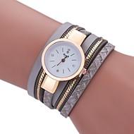 cheap -Women's Bracelet Watch Chinese New Design / Casual Watch / Imitation Diamond PU Band Casual / Fashion Black / White / Blue