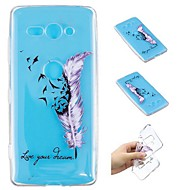 cheap -Case For Sony Xperia XZ2 Compact / Xperia L2 Transparent / Pattern Back Cover Feathers Soft TPU for Xperia XA2 Ultra / Xperia XA2