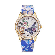 cheap -Women's Wrist Watch Chinese Casual Watch Leather Band Butterfly / Fashion Black / Blue / Red