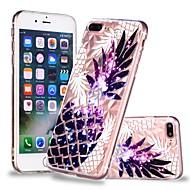 Недорогие Кейсы для iPhone 8-Кейс для Назначение Apple iPhone X / iPhone 8 Plus Прозрачный / С узором Кейс на заднюю панель Фрукты Мягкий ТПУ для iPhone X / iPhone 8 Pluss / iPhone 8