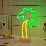 abordables Lámparas LED Novedosas-1 juego Luz de noche LED Colorido Pilas AA alimentadas Para Niños / Creativo / Boda <5 V