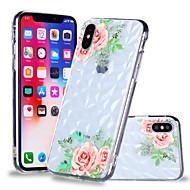 Недорогие Кейсы для iPhone 8-Кейс для Назначение Apple iPhone X / iPhone 8 Plus С узором Кейс на заднюю панель Цветы Мягкий ТПУ для iPhone X / iPhone 8 Pluss / iPhone 8