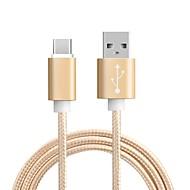 ราคาถูก Huawei P20 Pro-Type-C อะแดปเตอร์สายเคเบิล USB ถัก / ความเร็วสูง / ค่าใช้จ่ายด่วน สายเคเบิ้ล สำหรับ โทรศัพท์ Samsung / Huawei / MacBook Pro 100 cm สำหรับ ไนลอน