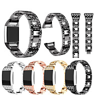 Watch Band for Fitbit Charge 2 Fitbit Sport Band / Jewelry Design Stainless Steel / Ceramic Wrist Strap