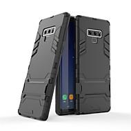 Недорогие Чехлы и кейсы для Galaxy Note-Кейс для Назначение SSamsung Galaxy Note 9 со стендом Кейс на заднюю панель Однотонный Твердый ПК для Note 9