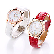cheap -Women's Wrist Watch Chinese Casual Watch Leather Band Fashion / Elegant Black / White / Red