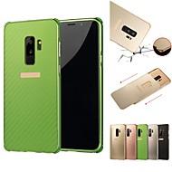 Недорогие Чехлы и кейсы для Galaxy S7-Кейс для Назначение SSamsung Galaxy S9 Plus / S9 Защита от удара / Покрытие Кейс на заднюю панель Однотонный Твердый Алюминий для S9 / S9 Plus / S8 Plus