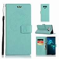 Недорогие Чехлы и кейсы для Galaxy Note-Кейс для Назначение SSamsung Galaxy Note 9 Кошелек / Бумажник для карт / со стендом Чехол Сова Твердый Кожа PU для Note 9